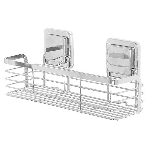 Estante colgando estante Baño estante de baño perforado ...