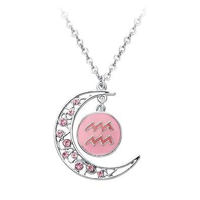 Amazoncom Senfai Crescent Moon 12 Zodiac Sign Constellation