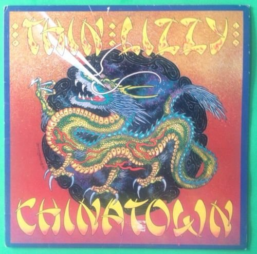 Song Lyrics 1980 (THIN LIZZY Chinatown LP Vinyl & Cover VG+ 1980 Lyric Sleeve BSK 3496)