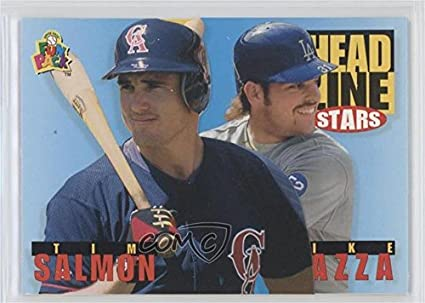 Amazoncom Tim Salmon Mike Piazza Baseball Card 1994 Upper Deck