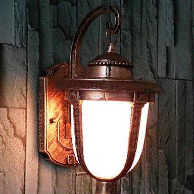 FuweiEncore Außenwandleuchte, 1 Licht, Vintage-Aluminium-Glas-Malerei (Spannung   110-120V) (Größe   110-120V)