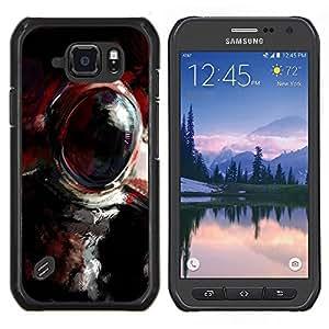 EJOOY---Cubierta de la caja de protección para la piel dura ** Samsung Galaxy S6Active Active G890A ** --Pintura al óleo Cosmonauta