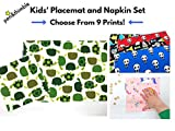Placemat and Cloth Napkin Set For School Lunches - Montessori School Lunch - Waste Free Lunch
