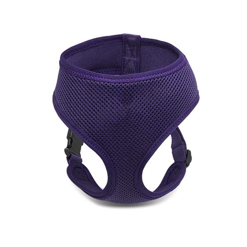 Purple L Purple L GWM Leashes Pet Harness, Dog Chest Strap, Vest, Leash, Pet Chest Strap,Pet Supplies (color   Purple, Size   L)