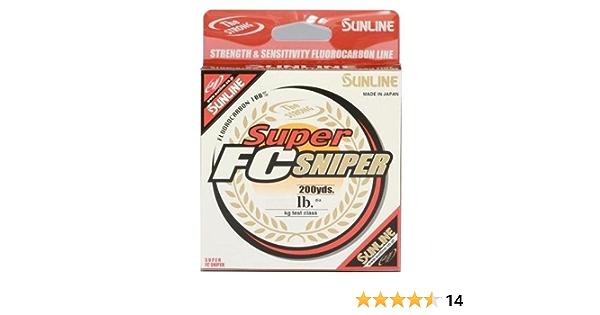 Sunline Super FC Sniper Clear Fluorocarbon Fishing Line 200yd//165yd Spool