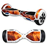 MightySkins Protective Vinyl Skin Decal for Hover Board Self Balancing Scooter mini 2 wheel x1 razor wrap cover sticker Backdraft