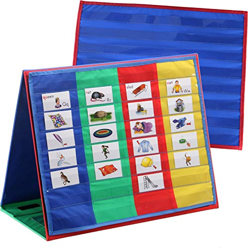 Chart Folios - Really Good Stuff Desktop Pocket Charts and Stand, 18