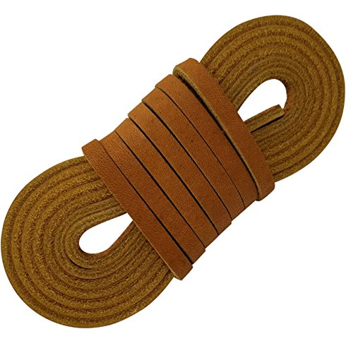 Leather Straps 2 Pieces 1/4 Wide and 72 inches long Laces That Are Great For Many Purposes by TOFL (Leathercraft Lace)