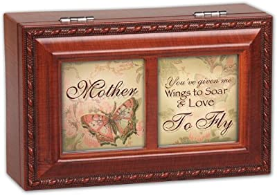 Mother You've Given Me Wings to Fly Cottage Garden Petite Music Jewelry Box Plays Light Up My Life