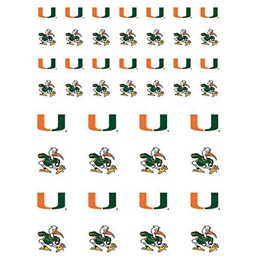 - The Fanatic Group Miami Hurricanes Small Sticker Sheet - 2 Sheets