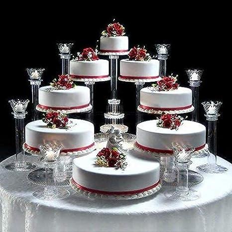2 Tier Layer Cake Food Stand Round Centre Piece Display Serving Wedding