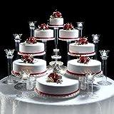8 Tier Cascade Wedding Cake Stand (STYLE R800)