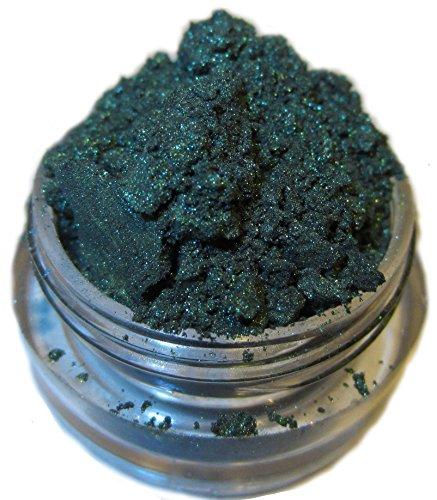 Lumikki Cosmetics Eyeshadow Mineral Glitter Pigment Makeup - Dark Hunter Emerald Green Sparkle - JOHNNY CASH - Super Pigmented & Rich Color! - Cruelty Free - Professional Quality - Loose Eye Shadow - 5G Volume/2.5G Weight Jar