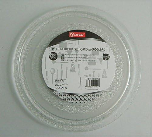 Plato giratorio de cristal para microondas LG 24,5 cm de diámetro ...