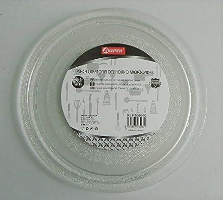 Plato giratorio de cristal para microondas LG con 3 muescas 27 cm ...