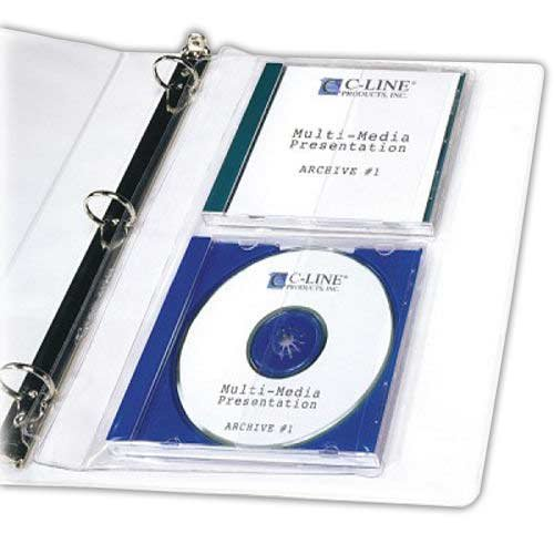 C-Line CD Jewel Case Holder Binder Pages, Clear Heavyweight Vinyl, 7-7/8 x 11-1/4 Inches, 10 Pages per Box (61968) ()