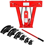 K&A Company Hydraulic Pipe Bender Ton Heavy Duty Exhaust Tube Bending Tubing 12 Ton with 6 Dies