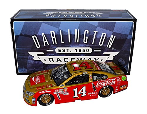 Nascar Racing Collectibles - AUTOGRAPHED 2016 Tony Stewart #14 Coca-Cola Racing DARLINGTON THROWBACK (Final Season) Vintage Rare Signed Lionel 1/24 Scale Collectible NASCAR Diecast with COA (#0639 of only 2,233 produced!)