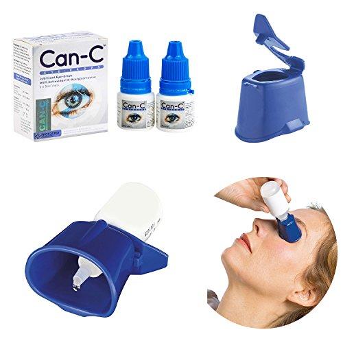 Can-C Eye Drops 2 x 5ml Vials with Eye Drop Guide Bundle - Eye Cataract Drops