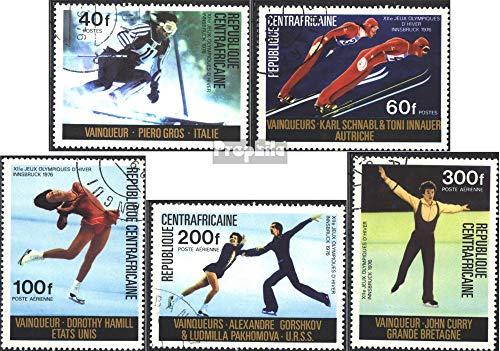 Central African Republic 417-421 (Complete.Issue.) 1976 Medaillengew. Winter Games ´76 (Stamps for Collectors) Winter Sports