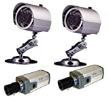 Q-See QSCMPACK4 2 Indoor & 2 Outdoor CCD Color Cameras