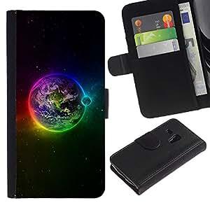 iBinBang / Flip Funda de Cuero Case Cover - Planète arc Etoiles Lune - Samsung Galaxy S3 MINI NOT REGULAR! I8190 I8190N