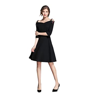 e659099119a3 ED express womens 50's Style Retro Vintage Classic Rockabilly Cocktail  Party Wiggle Swing Dress Audrey Hepburn