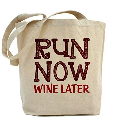 Cafepress Run now Wine later Tote Wine Lover–standard multi-color by Cafepress