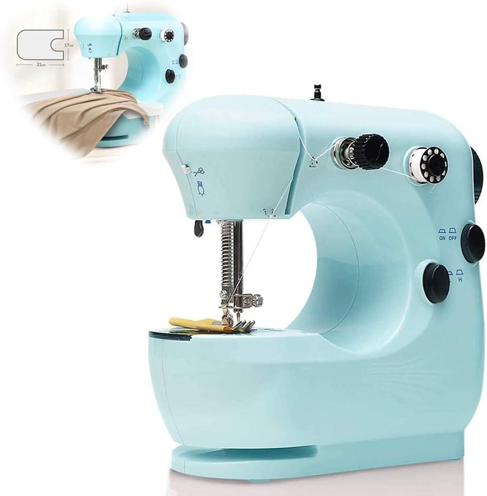 LonME Mini máquina de Coser eléctrica portátil, enhebrador ...