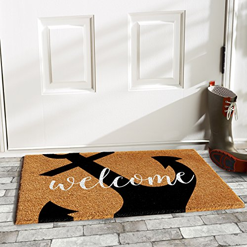 Home & More 103122436 Anchor Welcome Doormat 2' x 3'