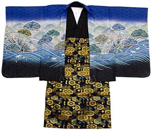 七五三 着物 男の子 五歳 13点フルセット 羽織袴セット 鷹 ブラック 黒色 3510-00006-3