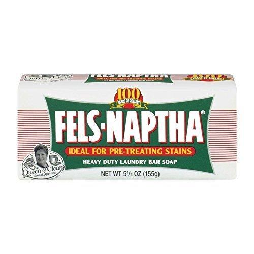 2 BARS Fels-Naptha 04303-01 Heavy-Duty Laundry Bar Soap, ...
