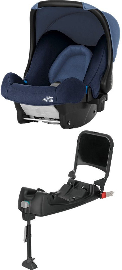 Britax Römer Baby-Safe Babyschale Set Gruppe 0+ (Geburt - 13 kg), Kollektion 2018, cosmos black, inkl. Isofix-Station
