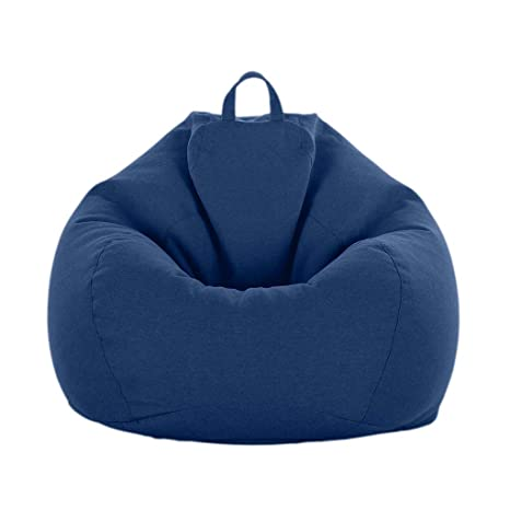 Peachy Fityle Adult Size Bean Bag Cover Large Beanbag Without Fillings Children Stuffed Animal Toys Storage Beanbag Covers Only Dark Blue Beatyapartments Chair Design Images Beatyapartmentscom