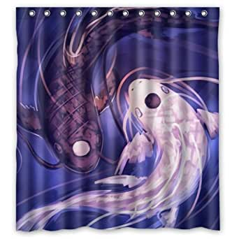 Special design japanese koi fish waterproof for Koi fish bathroom decorations