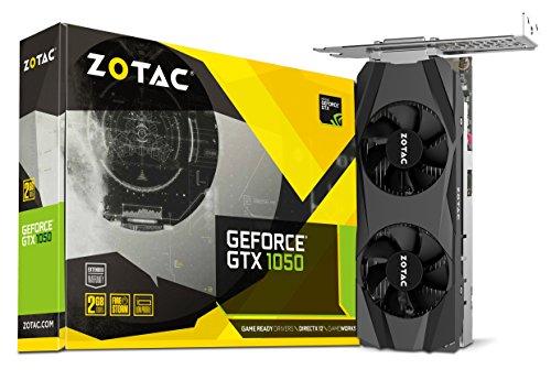 - ZOTAC GeForce GTX 1050 Low Profile 2GB GDDR5 128-bit Gaming Graphics Card ZT-P10500E-10L