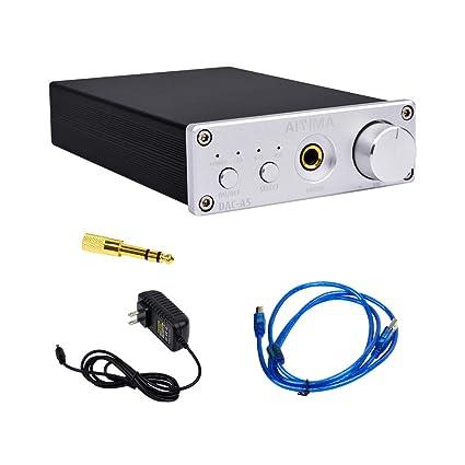 AIYIMA Audio DAC Convertidor 24BIT/192kHz óptico/coaxial/USB Convertidor de Audio Digital