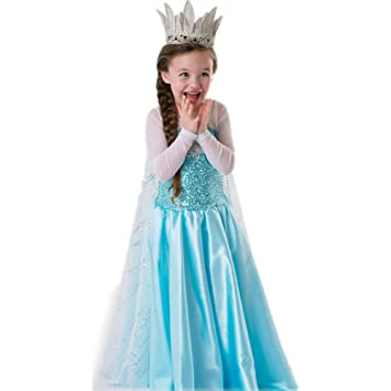 Neue Disney Gefrorene Prinzessin Elsa Inspiriert Dress Up Kostum ...