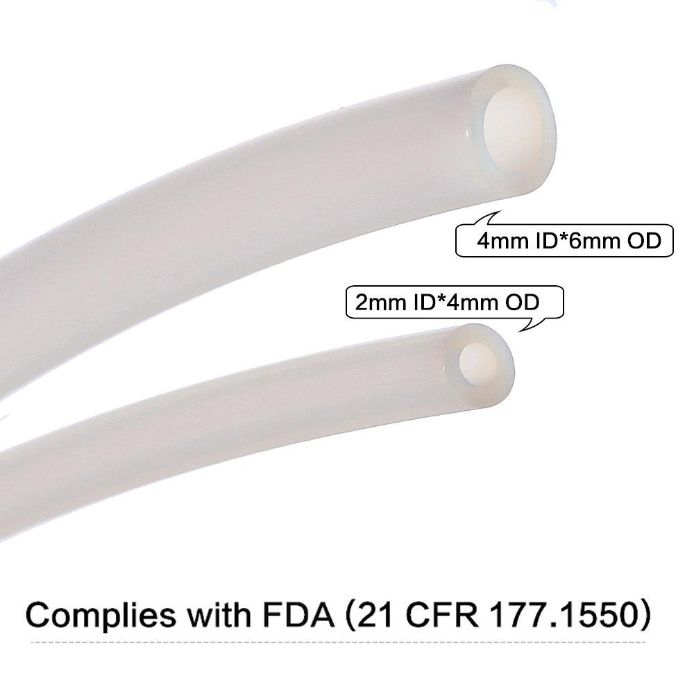 2.0mm ID//3.0mm OD PTFE Teflon Bowden Tube for 1.75 Filament 2 Meters BALITENSEN