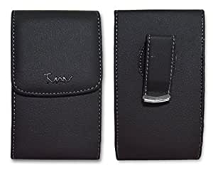 Brand New Black Vertical Leather Cover Belt Clip Side Case Pouch For LG Optimus Elite LS696 Sold By Only MechSoft Tech