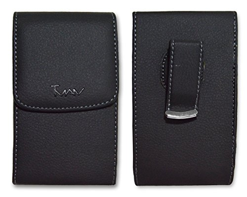 PREMIUM Quality Vertical Leather Swivel Belt Clip Case Pouch for Samsung Galaxy Avant SM-G386T