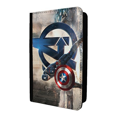 / St-t1564 Marvel Captain America passeport Coque/