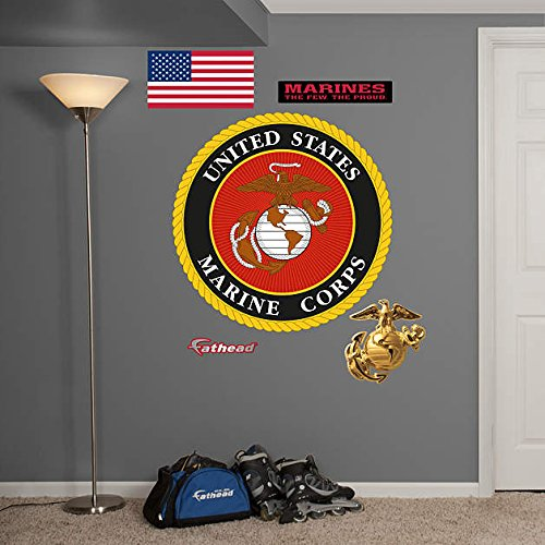 (FATHEAD United States Marine Corp: Seal - Giant Officially Licensed Removable Wall Decal Multicolor)