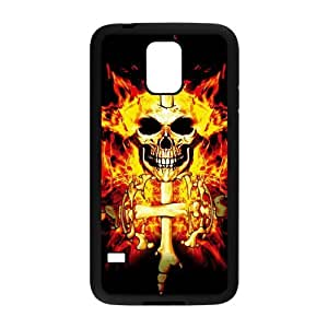C-EUR Customized Print Skull Hard Skin Case Compatible For Samsung Galaxy S5 I9600