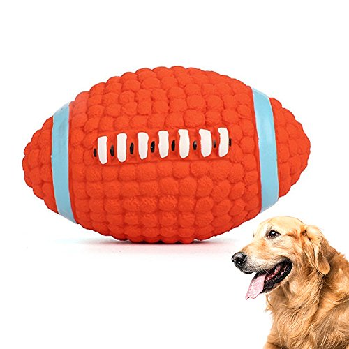HLovebuy Squeaky Dog Ball Toys Pet Squeak Chew Ball Toys Interactive and Chewing Durable Latex Balls Non-Toxic Latex Clean Teeth for Small Medium Large Dog, Red