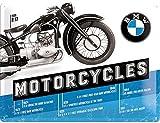 BMW Motorcycles Timeline large embossed steel sign (na 4030)