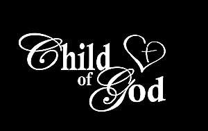 Child of God Heart Cross NOK Decal Vinyl Sticker |Cars Trucks Vans Walls Laptop|White|7.5 x 4.0 in|NOK455