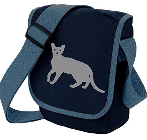 Bag Pixie Bolso al hombro de poliéster para mujer S Grey Cat Navy Bag
