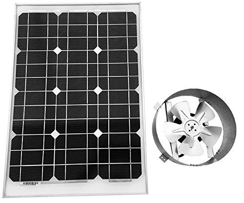 Natural Light Gable Solar Attic Fan