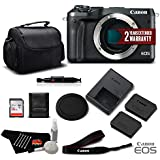 Canon EOS M6 Mirrorless Digital Camera (Body Only, Black) 1724C001- Standard Bundle - International Version (No Warranty)